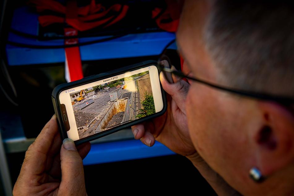 Die Überwachung kann live per App verfolgt werden.