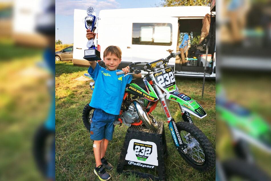 Mit dem gestohlenen Motorrad sammelte der Großharthauer bereits Pokale.