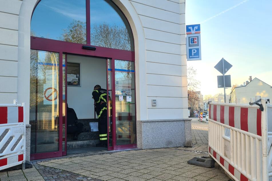 In Glauchau wurde versucht, ein Geldautomat zu sprengen.