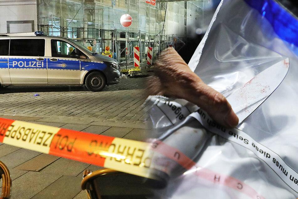 Messer-Mord in Dresdner Innenstadt? Polizei sperrt Straßen und sichert Spuren!