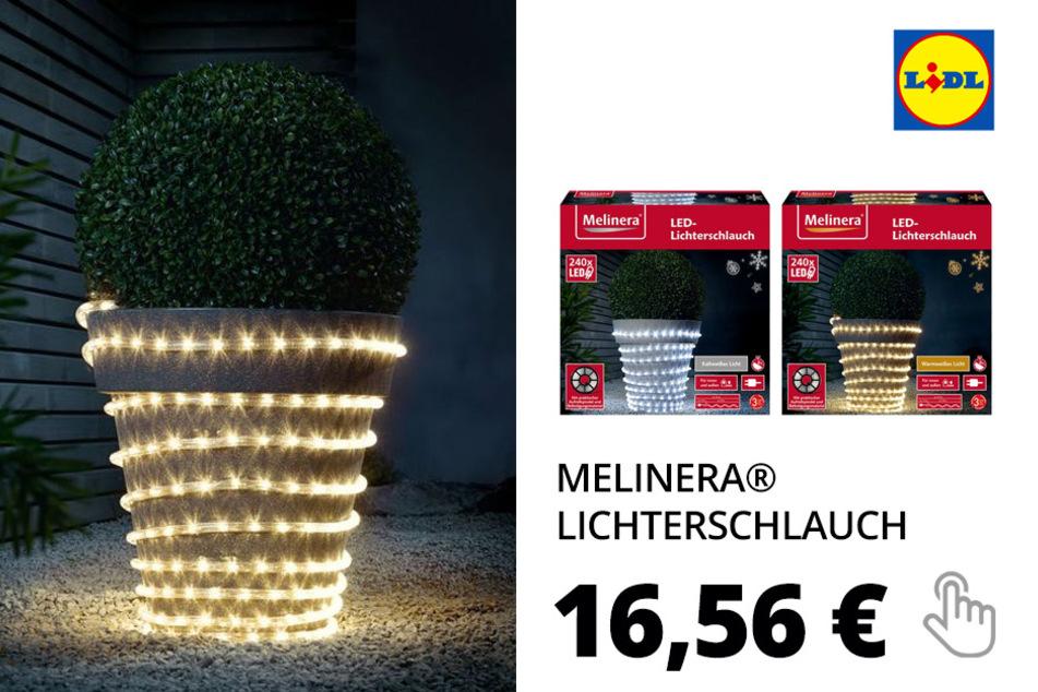Lichterschlauch, 240 LEDs, 6-Stunden-Timer– Nur online!