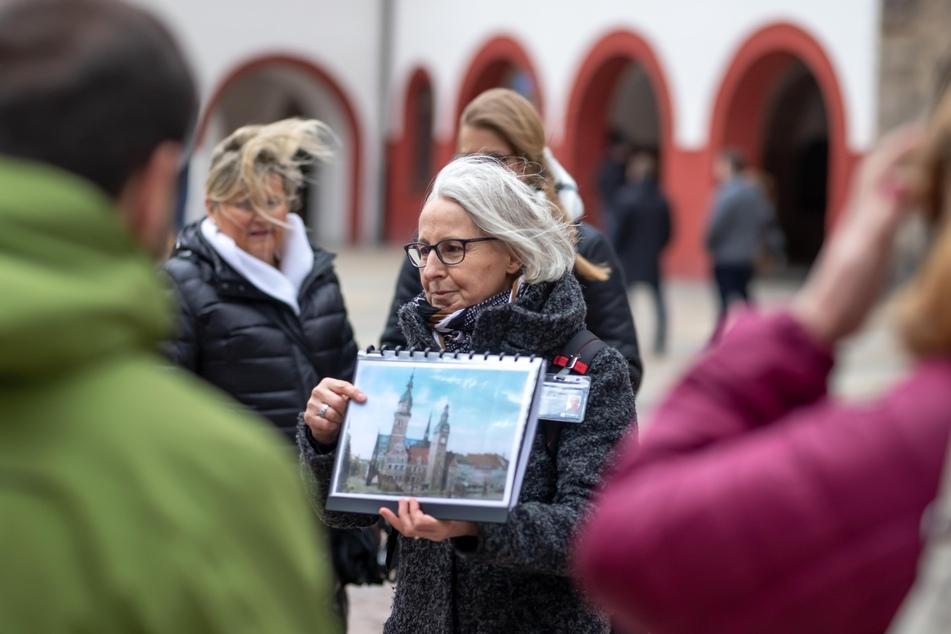 Gästeführerin Ramona Wagner nimmt Euch mit auf eine Tour in Glösa.