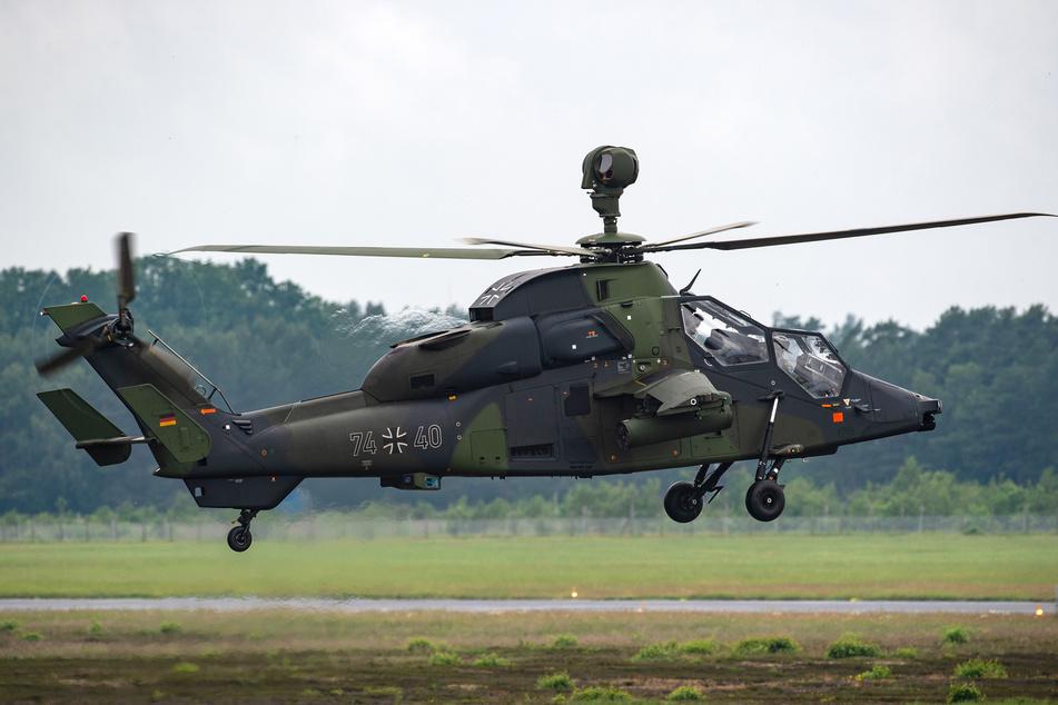 """Ein Kampfhubschrauber vom Typ Tiger: Die Helikopter sind die """"Sorgenkinder"""" der Bundeswehr."""