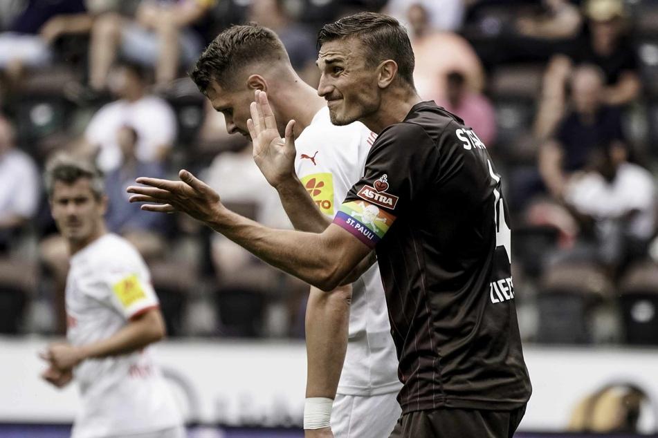 Kapitän Philipp Ziereis (28) pushte seine Mannschaft immer wieder nach vorne.