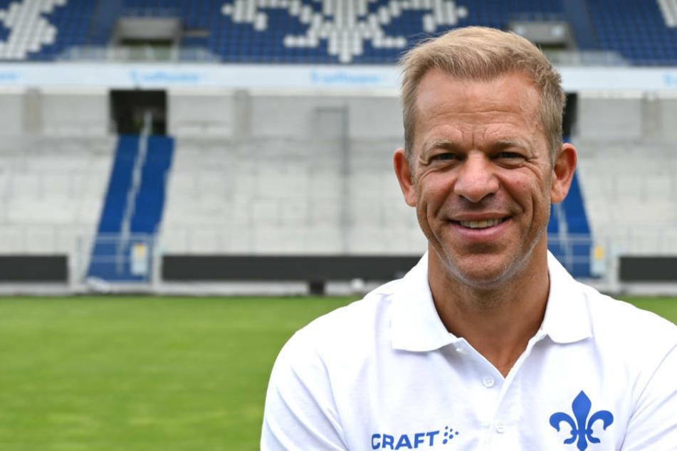 Lilien-Coach Markus Anfang zeigte sich nach dem Testspiel gegen Griesheim zufrieden, hätte sich aber noch mehr Tore gewünscht (Archivbild).