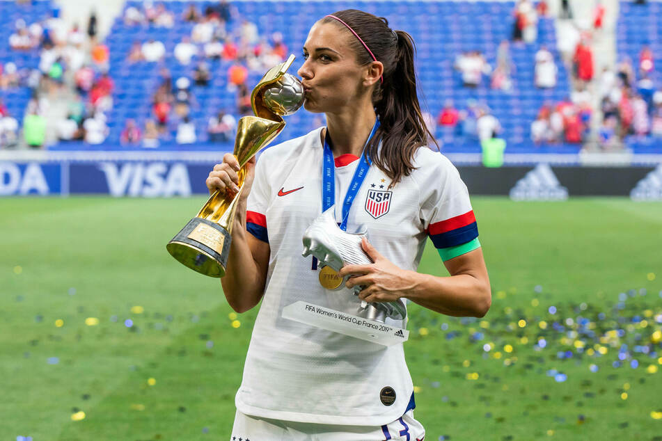 Alex Morgan helped lead the US Women's Soccer team to World Cup victory in 2019.