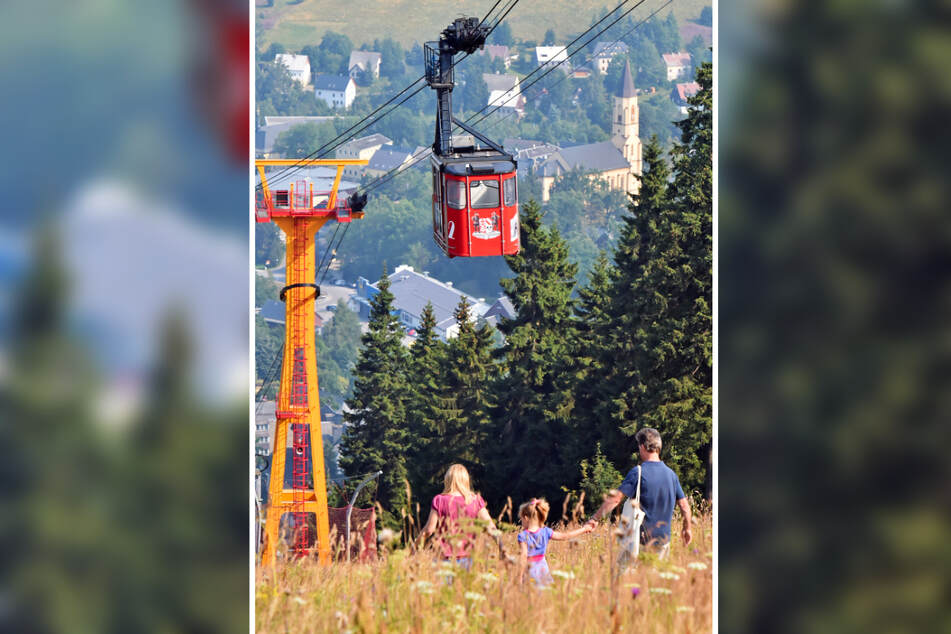 Gute Neuigkeiten für die Schwebebahn auf dem Fichtelberg: Der Freistaat Sachsen übergab am Mittwoch einen Scheck über 200.000 Euro.