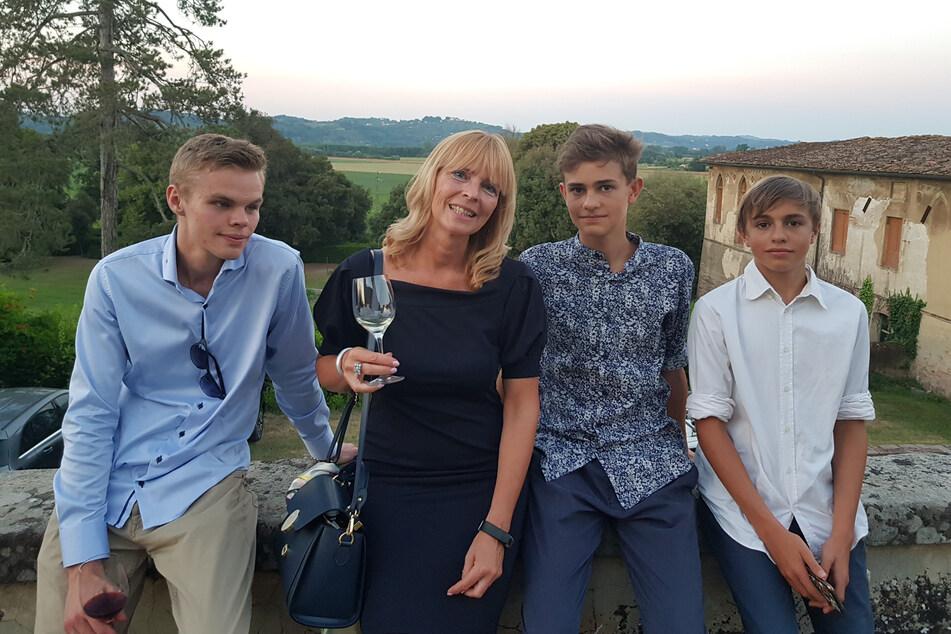 Sie sind der ganze Stolz von Kristina Schmidt: ihre drei Söhne Felix, Filippo und Luca (von links).