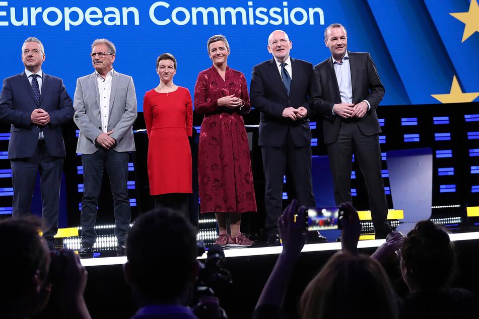 Die Spitzenkandidaten zur Wahl des Präsidenten der Europäischen Kommission 2019 (Foto: Francisco Seco/AP/dpa).