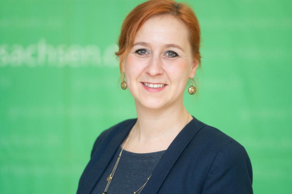 Franziska Schubert (38) ist Chefin der Grünen-Fraktion im Sächsischen Landtag.
