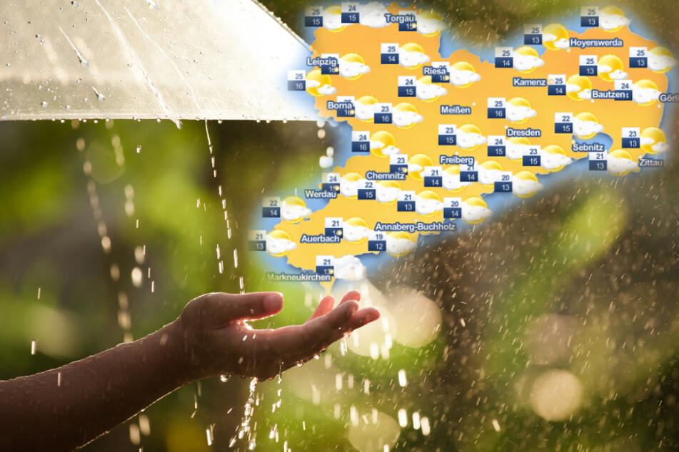 Warmer Sommerregen in Dauerschleife? So wird das Sachsen-Wetter