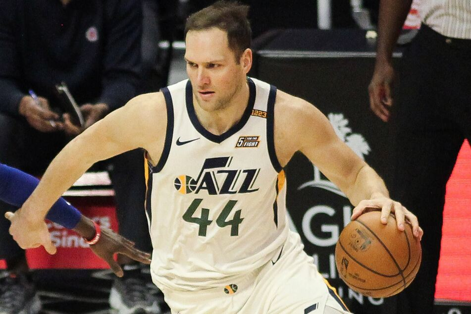 Bojan Bogdanovic scored a career-high 48 points as the Jazz beat the Nuggets on Friday night