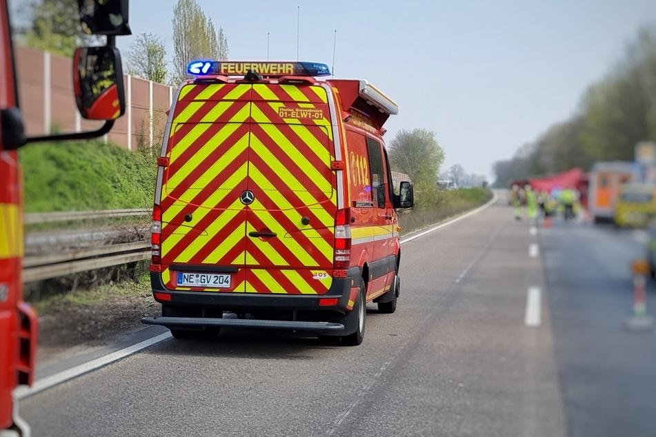 Unfall A46: Umgekippter Lastwagen sorgt für stundenlange Sperrung der A46