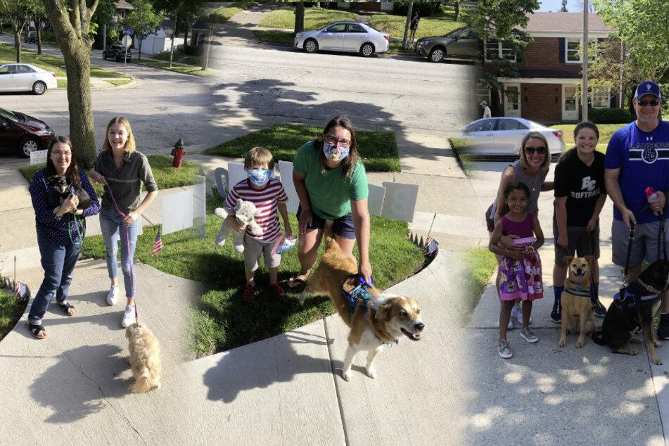 100 Hunde und 150 Menschen gratulieretn Theo zum Geburtstag.