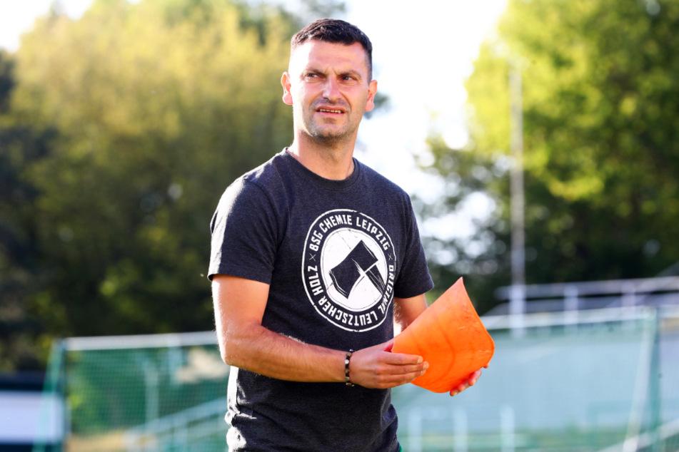 Chemie-Coach Miroslav Jagatic (44) muss mit seiner kampfstarken Mannschaft aufpassen. Doch die Qualität, die Klasse zu halten, hat sein Team auf jeden Fall.