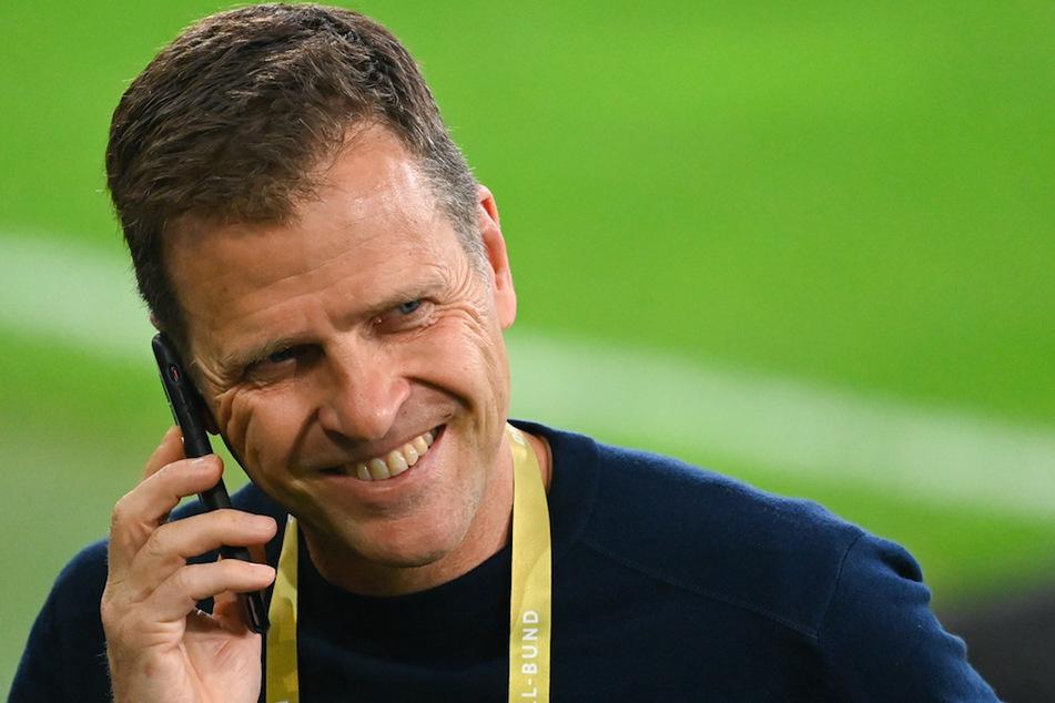 DFB-Direktor Oliver Bierhoff (53) ist dankbar für die Zulassung von Zuschauern bei den EM-Spielen.