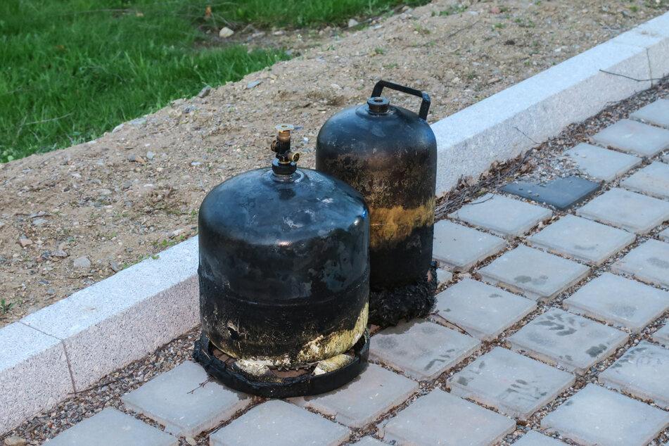 Diese zwei Gasflaschen lösten offenbar den verheerenden Brand aus.