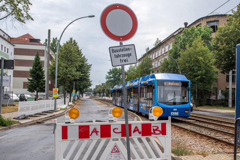 Baustellen Chemnitz: Neue Baustellen ab Montag: Hier wird es in Chemnitz eng