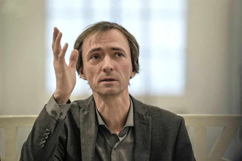 Der Leipziger Universitätsmusikdirektor David Timm (51).