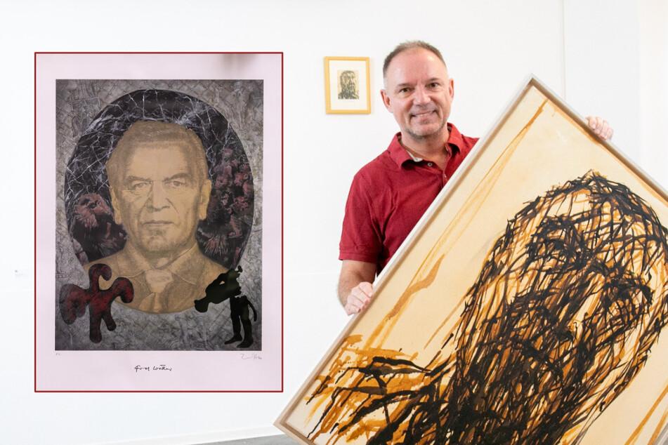 Was den Altkanzler mit Dresden verbindet: Dieser Galerist macht Gerhard Schröder zum Kunstobjekt