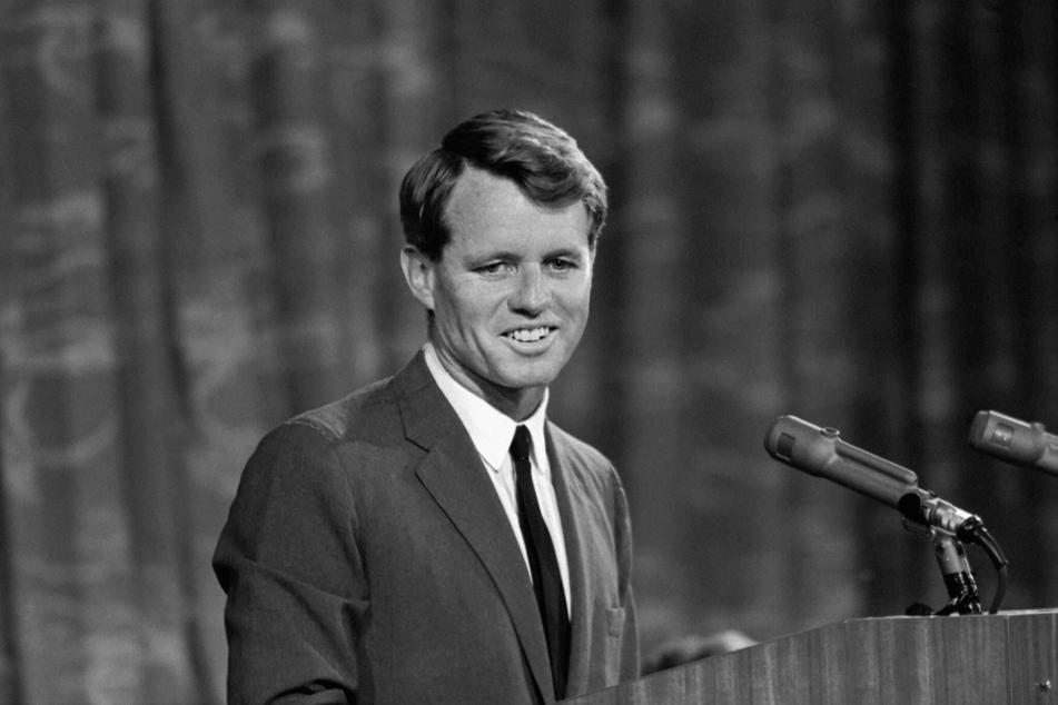 Robert F. Kennedy (†42) wurde am 5. Juni 1968 in Los Angeles erschossen. Kurz zuvor hatte er die Vorwahlen im Staat zur Kür des US-Präsidentschaftskandidaten gewonnen.