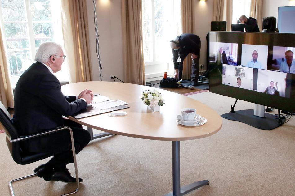 Sorgen an der Corona-Front: Sachsen reden Klartext, Bundespräsident hört zu