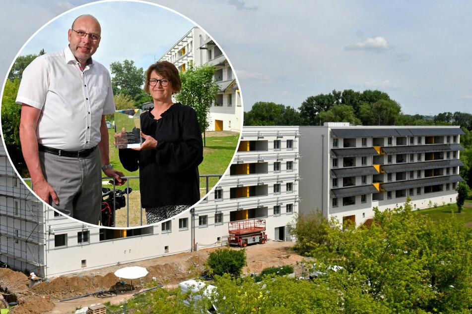 Dresden: Nein, das ist keine DDR-Platte: Hier steht Sachsens modernstes Energie-Haus!