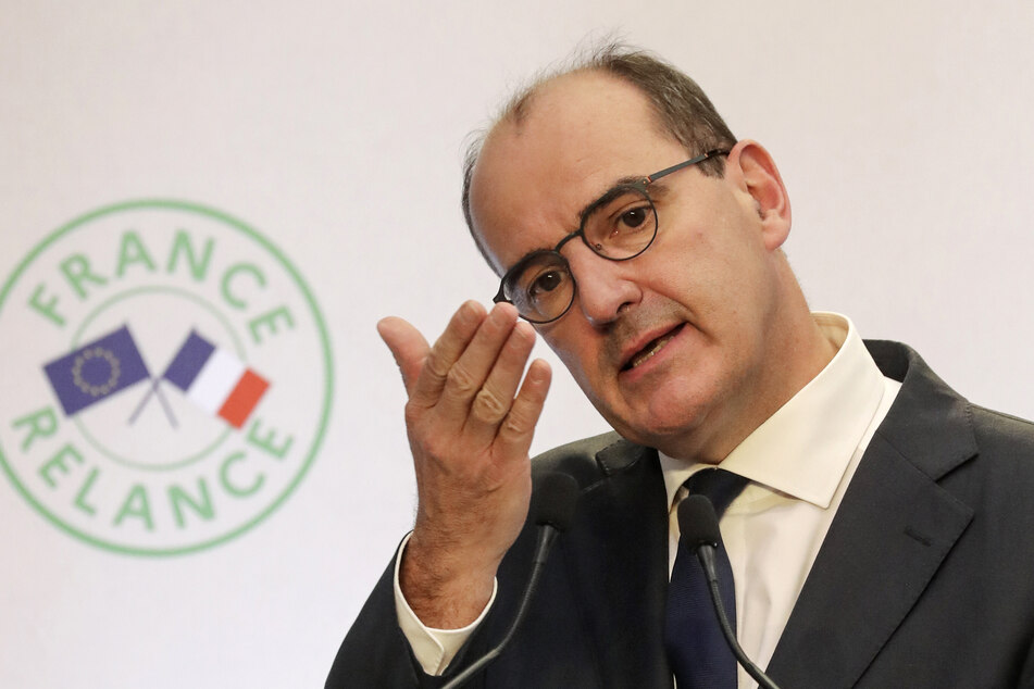 Jean Castex, Premierminister von Frankreich, spricht bei einer gemeinsamen Pressekonferenz mit Wirtschaftsminister Le Maire.