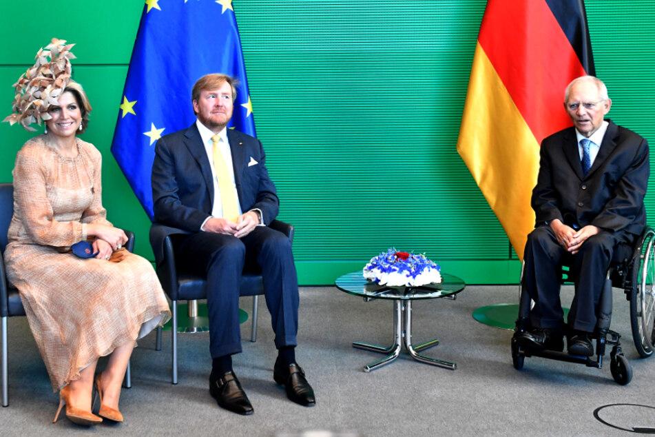 Berlin: Hier trifft Schäuble das niederländische Königspaar!