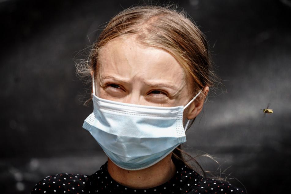 Greta Thunberg in times of coronavirus.