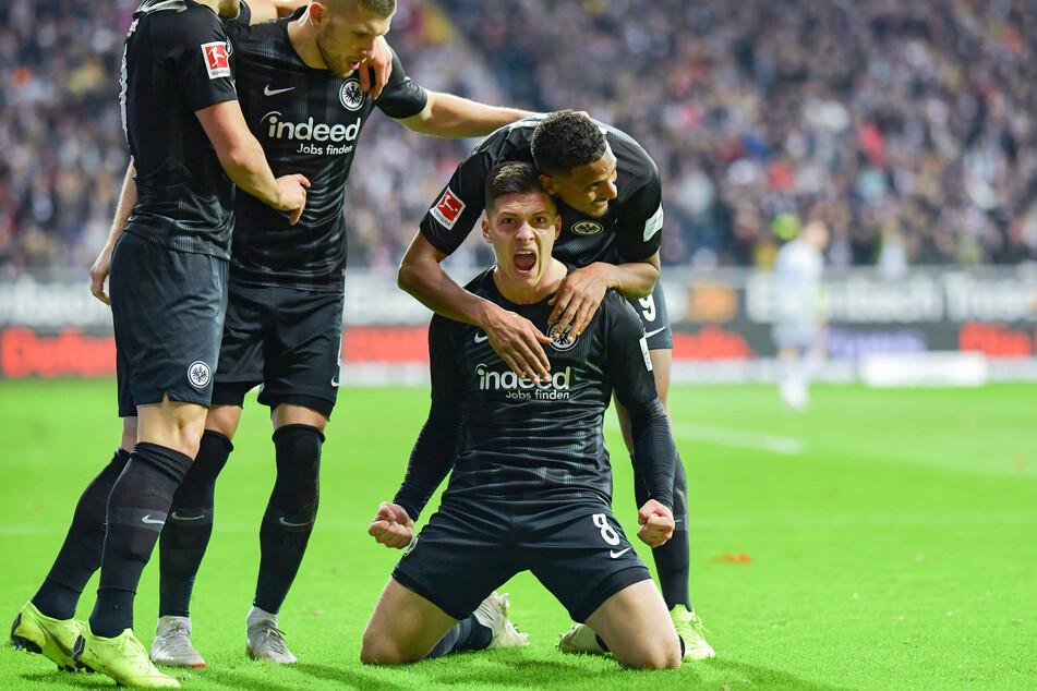 Real-Madrid-Stürmer Luka Jovic (23/kniend) hatte bei der Eintracht seine bislang beste Phase.