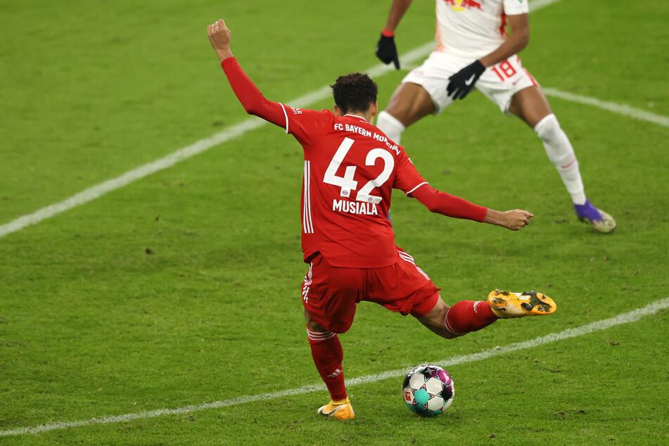 Jamal Musiala (18) vom FC Bayern München hat eine große Zukunft vor sich.