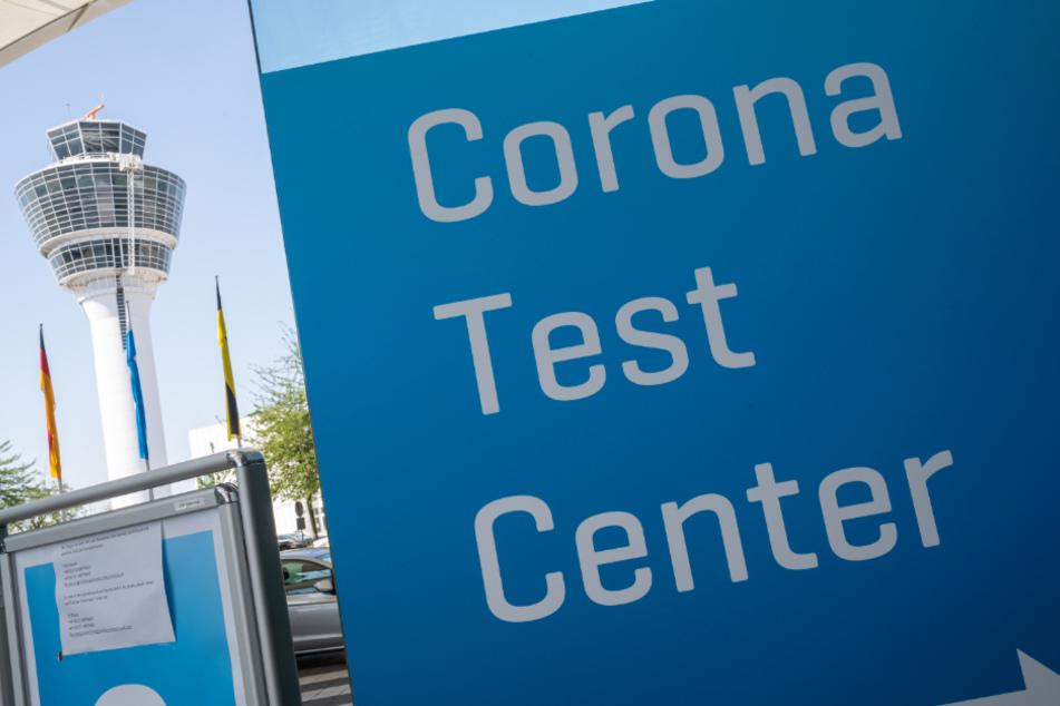 Das Corona-Testzentrum am Münchner Flughafen.