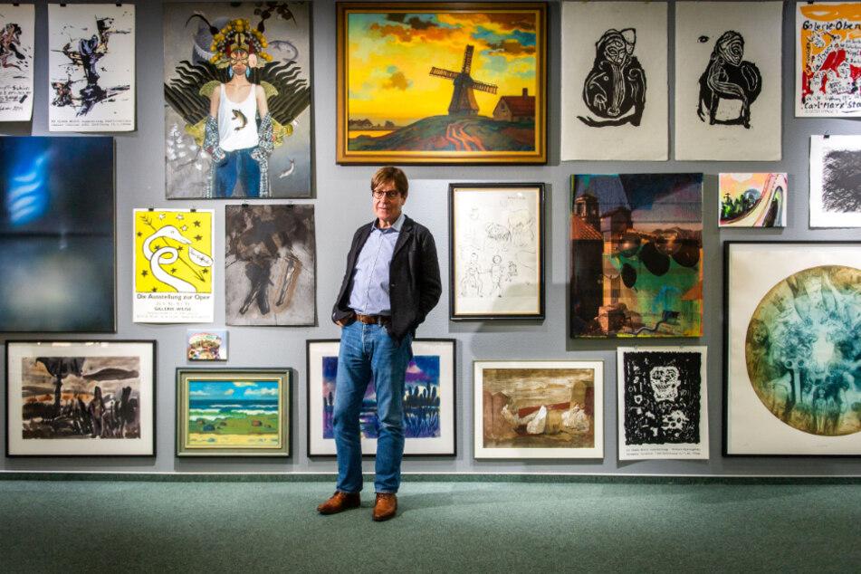 Ein Platz für Kunst: Bernd Weise (64) in seiner Galerie im Rosenhof. Diese feiert 2020 ein rundes Jubiläum.