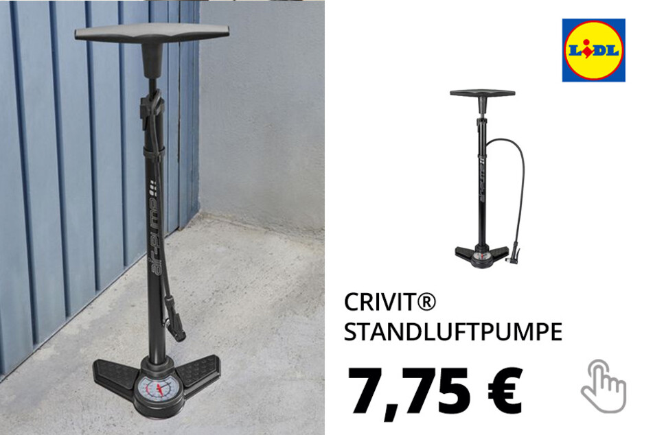 CRIVIT® Standluftpumpe, mit Manometer