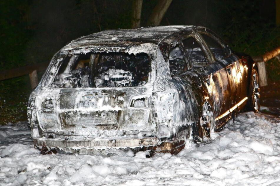 Die Feuerwehr konnte den Wagen löschen.