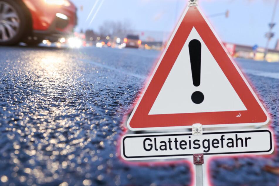 Glatteiswarnung in Sachsen! Neue Woche startet eisig und mit Regen