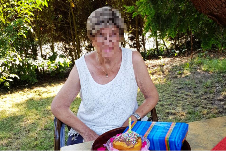 Die 81-Jährige wurde von einem Polizeihubschrauber entdeckt.