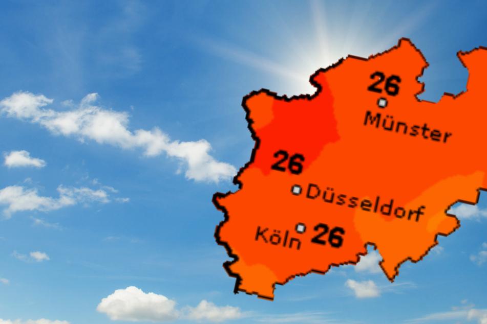 Am Mittwoch wird es in Nordrhein-Westfalen warm. Teilweise sind bis zu 29 Grad möglich.