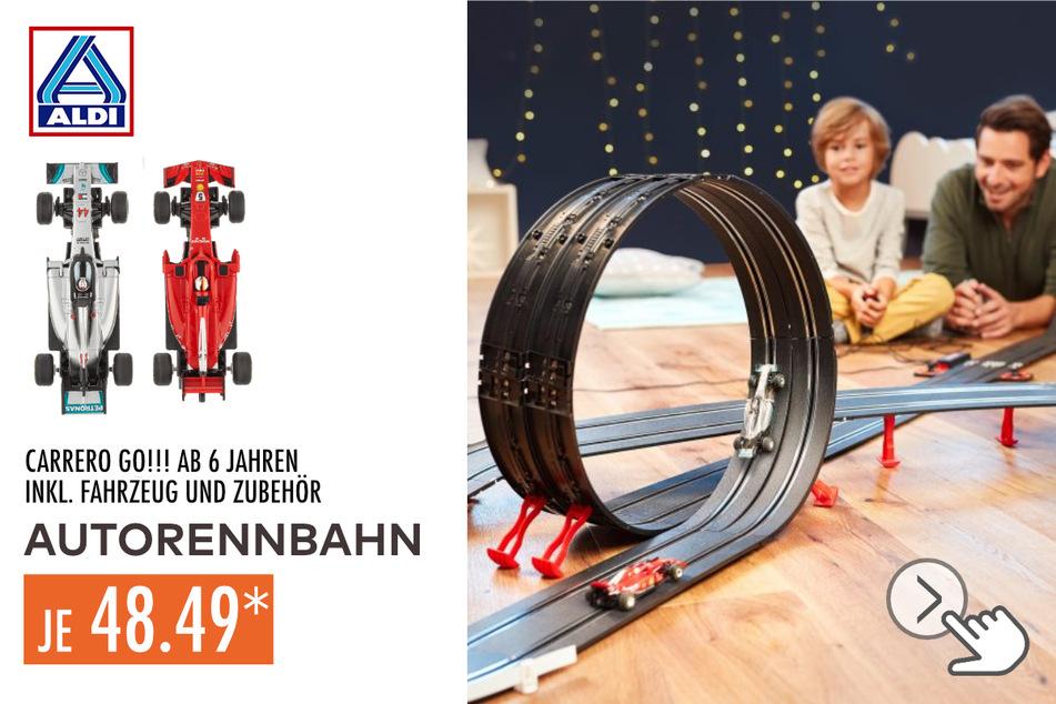 Carrera Go!!! Autorennbahn für 48,49 Euro.
