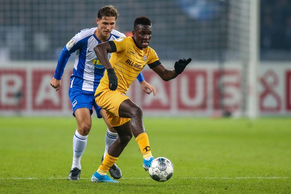 Im letztjährigen DFB-Pokal-Spiel gegen Hertha BSC schnupperte Moussa Koné (23) mit den Dynamos noch ander Sensation bei Hertha BSC Berlin.