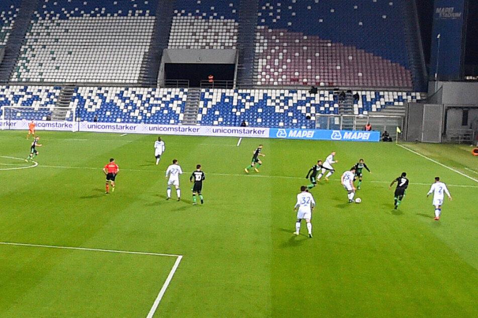 Aufgrund des Coronavirus fand in Italien auch das Spiel Sassuolo Calcio gegen Brescia Calcio ohne Zuschauer statt.