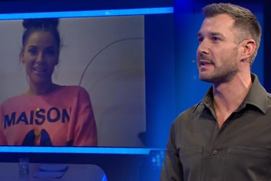 Hemden-Liebhaber Jochen Schropp (41) darf mit Promi-Big-Brother-Siegerin Janine Pink (32) via Schalte quasseln... Sie hatte eine Überraschung für die Rasselbande.