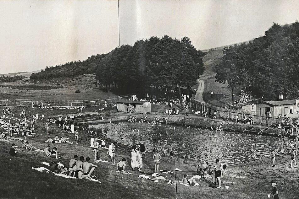 So sah das Erfenschlager Bad im Eröffnungsjahr 1931 aus.