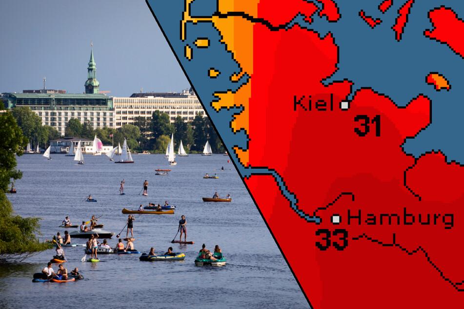 Hitzewelle rollt auf Hamburg zu: Vorher wird es nochmal kühl