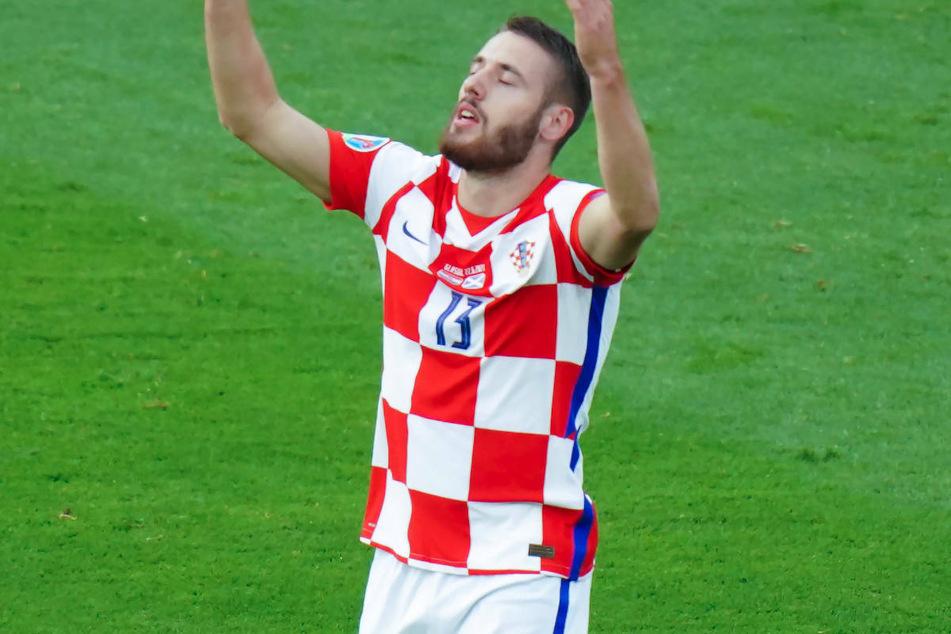 Nikola Vlasic (23) jubelt bei der Europameisterschaft über seinen Treffer für die kroatische Nationalmannschaft im Spiel gegen Schottland. Verstärkt er die Offensive von Hertha BSC?