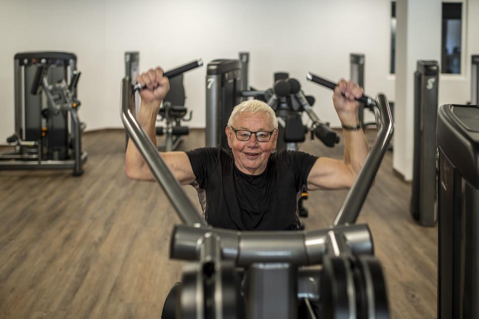 Günter Seidler (79) trainiert bereits seit zehn Jahren vor Ort, das neue Konzept gefällt ihm gut.