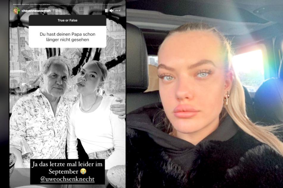 Auf Instagram verrät Cheyenne (20), wann sie Papa Uwe Ochsenknecht (65) zuletzt gesehen hat.