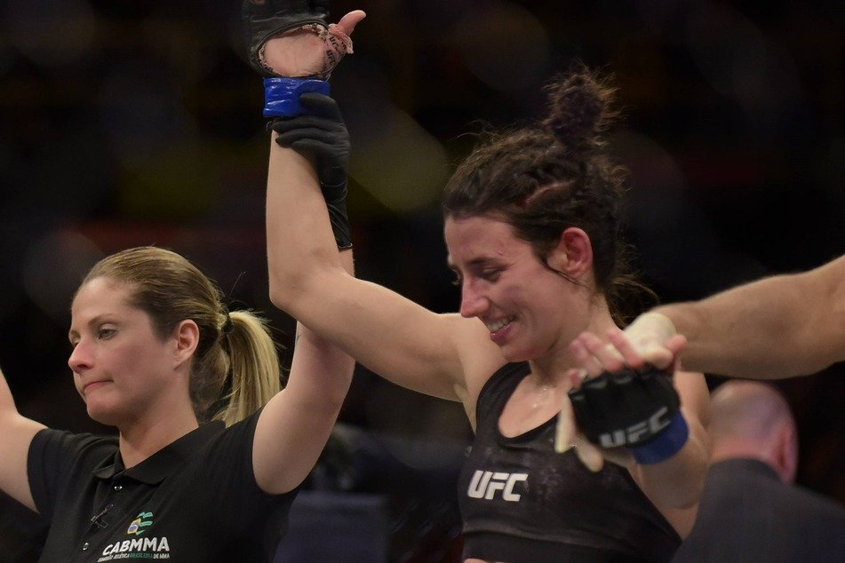 Flyweight Marina Rodriguez (r) won by unanimous decision over Michelle Waterson on Saturday night