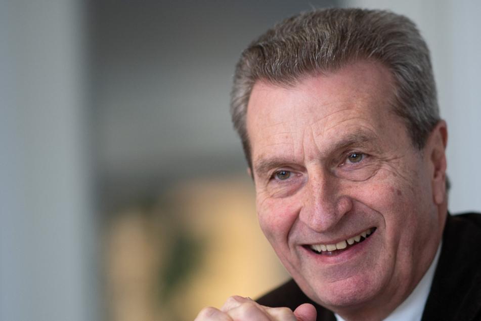 Günther Oettinger (67, CDU), ehemaliger EU-Kommissar und ehemaliger Ministerpräsident des Landes Baden-Württemberg.